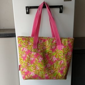 Lilly Pulitzer Insulated Beach Cooler Tote Zipper